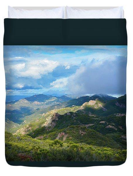 Backbone Trail Santa Monica Mountains Duvet Cover