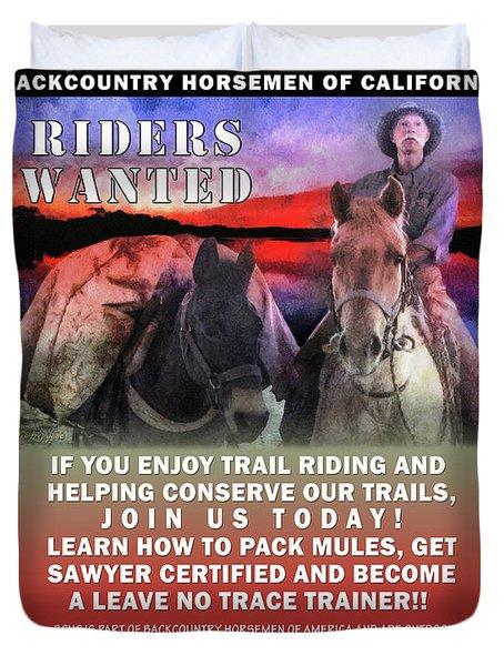 Backcountry Horsemen Join Us Poster II Duvet Cover