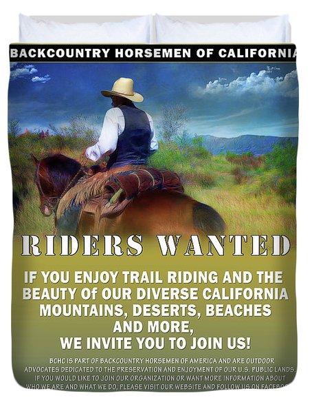 Backcountry Horsemen Join Us Poster Duvet Cover