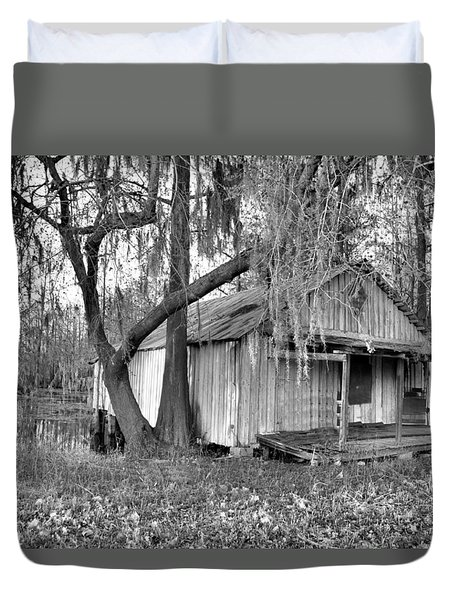 Backdoor Fishing Duvet Cover by Jan Amiss Photography