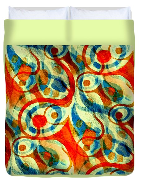 Background Choice Coffee Time Abstract Duvet Cover