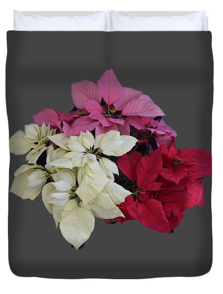 Background Choice-pointsettias Duvet Cover