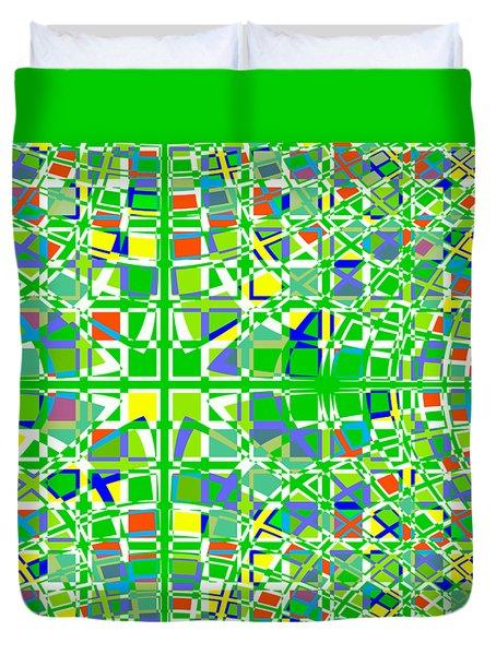 Background Choice Squares Duvet Cover