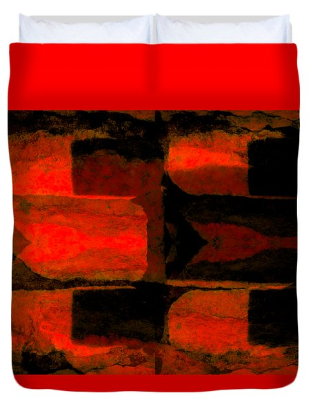 Colour Choice Stone Abstract Duvet Cover