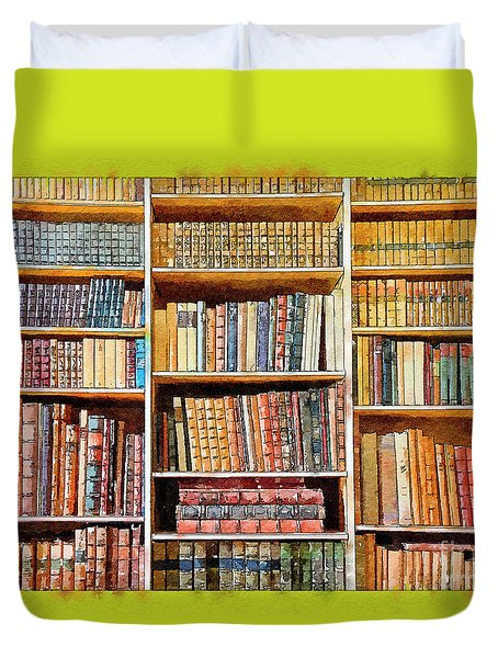 Duvet Cover featuring the digital art Background From Old Books by Ariadna De Raadt