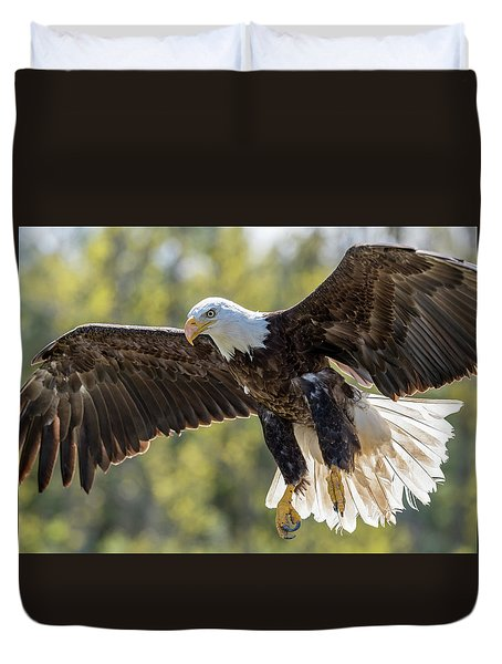 Backlit Eagle Duvet Cover