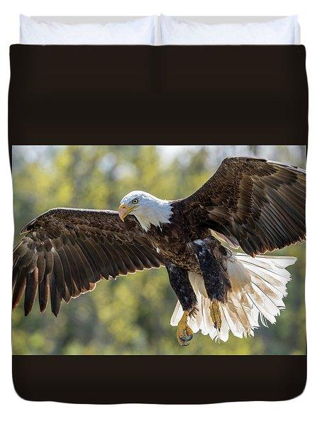 Backlit Eagle Duvet Cover