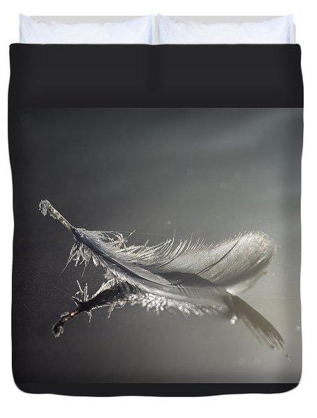 Backlit Feather Duvet Cover