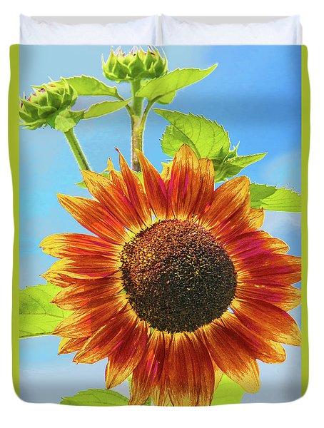Sky Queen Sunflower Duvet Cover