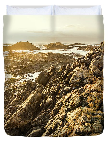 Backpacking A Tropical Sundown Duvet Cover