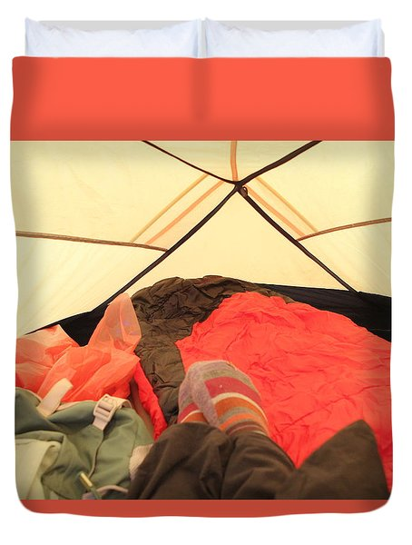 Backpacking Moments Duvet Cover