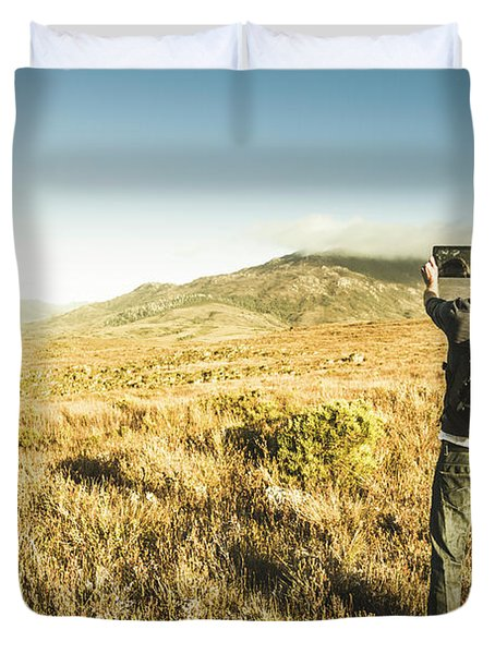 Backpacking Wonders Duvet Cover