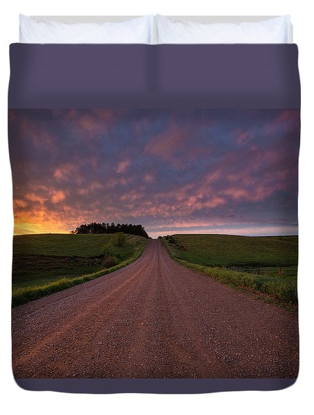 Duvet Cover featuring the photograph Backroad To Heaven  by Aaron J Groen