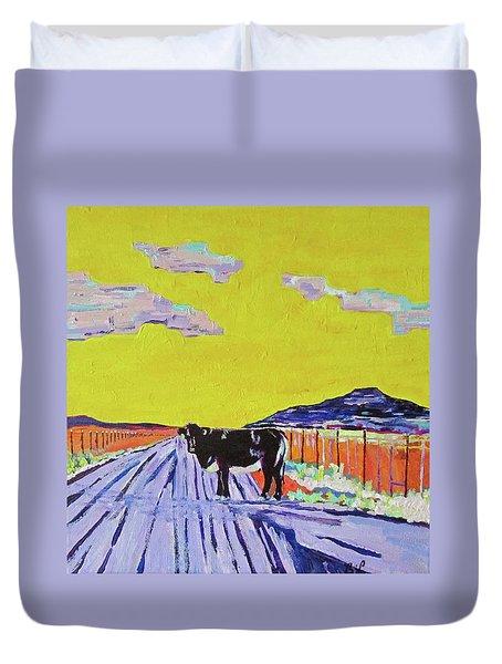 Backroads Abiquiu, New Mexico Duvet Cover by Brenda Pressnall