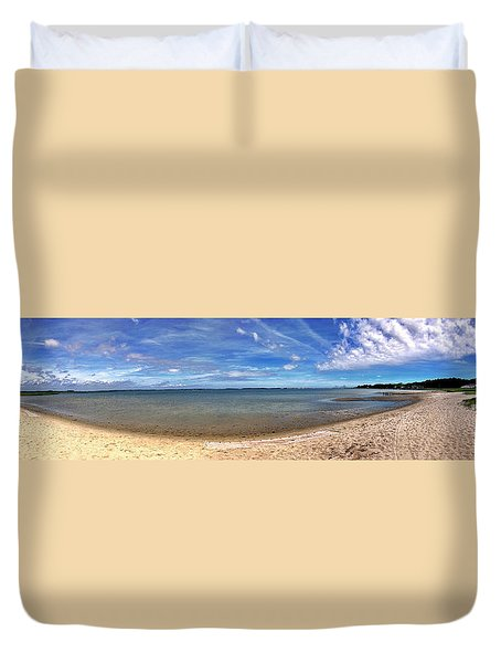 Duvet Cover featuring the photograph Backwater Bay Pano by T Brian Jones