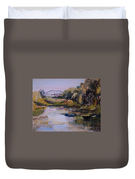 Backwater Near Sertoma Park Duvet Cover
