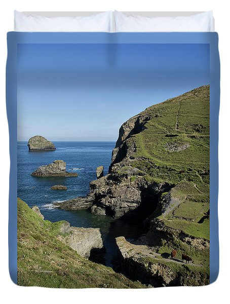 Backways Cove Near Trebarwith Duvet Cover