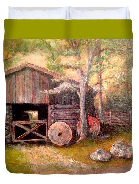 Backwoods Barn Duvet Cover