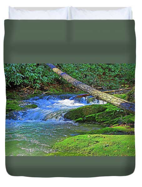 Backwoods Stream Duvet Cover