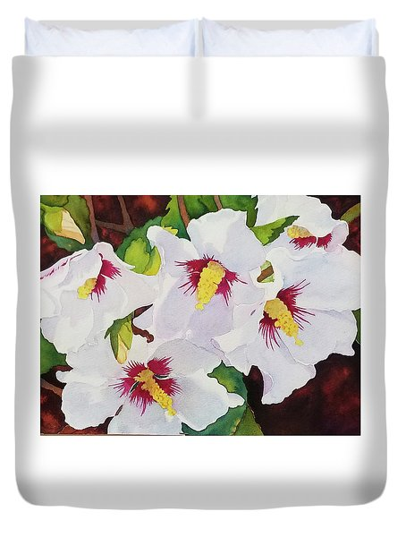Backyard Blooms Duvet Cover