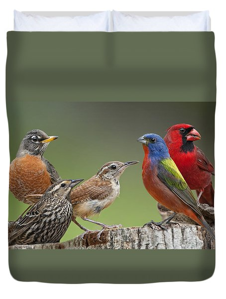 Backyard Buddies Duvet Cover by Bonnie Barry