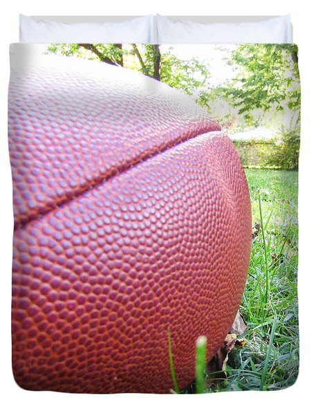 Backyard Football Duvet Cover