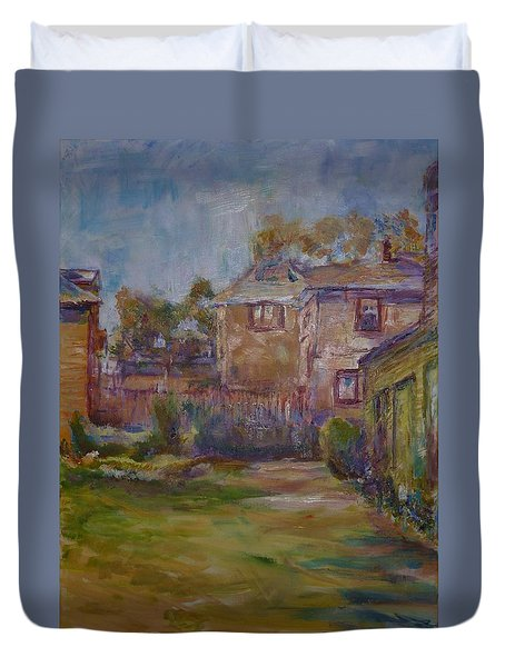 Backyard Impressions Duvet Cover by Helen Campbell