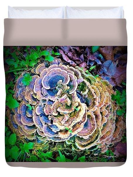 Backyard Mushroom  Duvet Cover