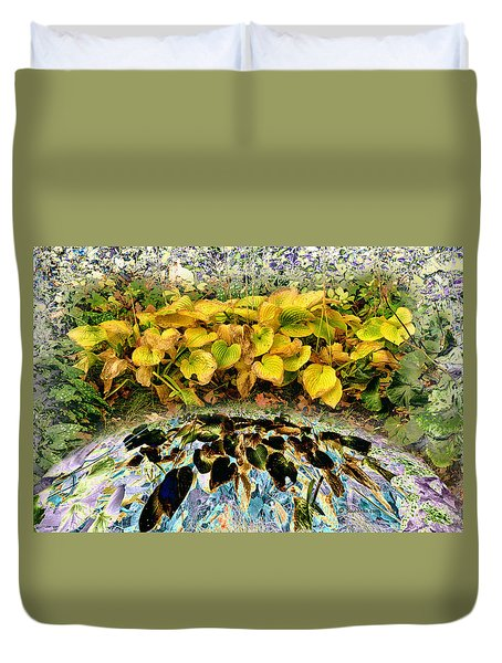 Backyard Portal.... Duvet Cover