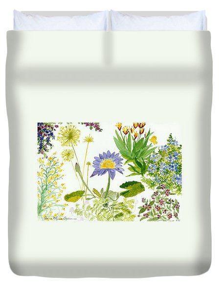 Backyard Study Duvet Cover