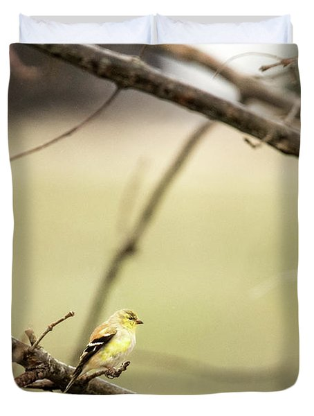 Backyard Yellow Duvet Cover
