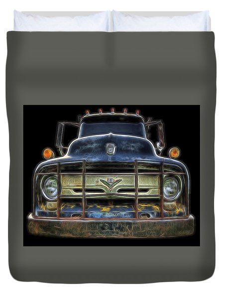 Bad 56 Ford Duvet Cover