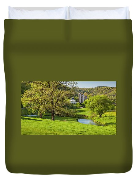 Bad Axe River Duvet Cover