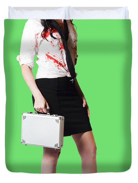 Bad Day At The Office Duvet Cover