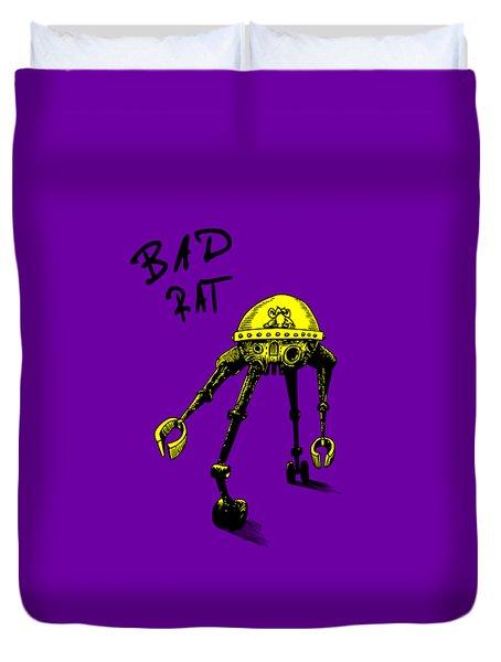 Bad Rat In Retro Yellow Duvet Cover