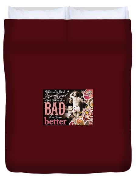 Bad Seven Duvet Cover by Chris Andruskiewicz