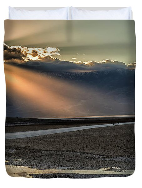 Bad Water Basin Death Valley National Park Duvet Cover