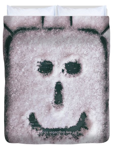 Bad Weather, Good Face Duvet Cover