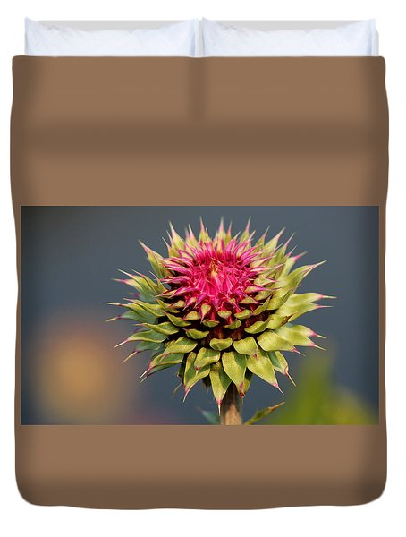 Duvet Cover featuring the photograph Bad Weeds Grow Tall by Silke Brubaker