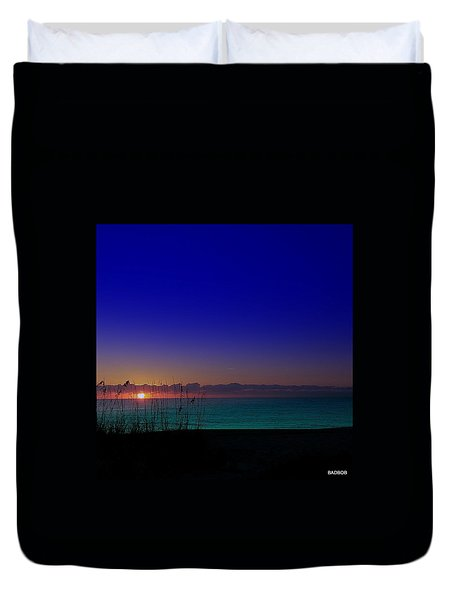 Badblue Sunrise  Duvet Cover