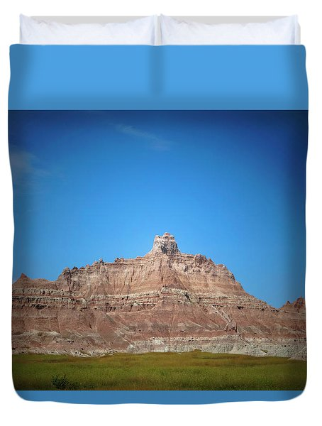 Duvet Cover featuring the photograph Badlands Canyon by Heidi Hermes