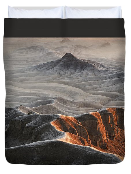 Badlands Fog Duvet Cover