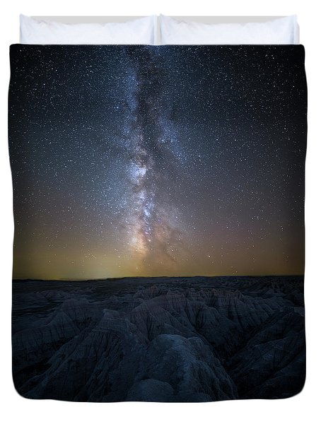 Duvet Cover featuring the photograph Badlands II by Aaron J Groen