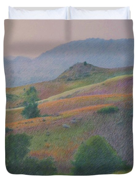 Badlands In July Duvet Cover
