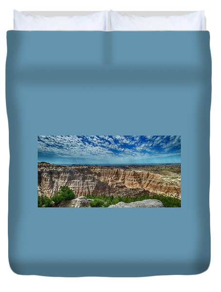Badlands Landscape Duvet Cover