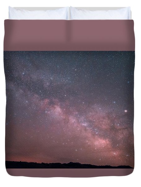 Badlands Milky Way Duvet Cover