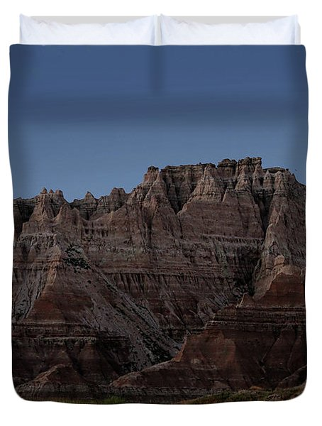 Badlands Moon Rising Duvet Cover