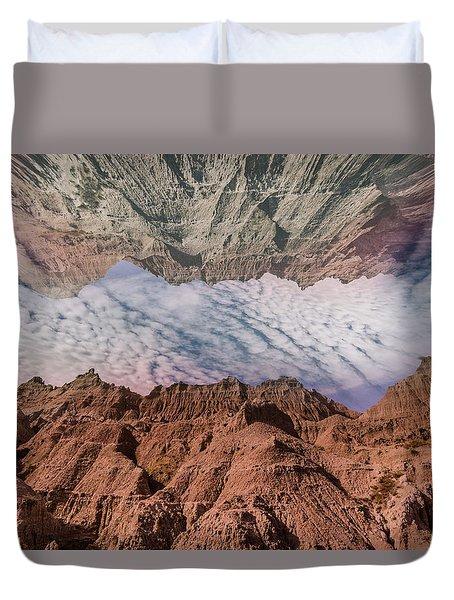Badlands Reflection.... Duvet Cover