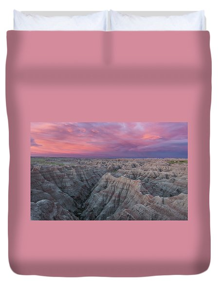 Badlands Sunrise Duvet Cover