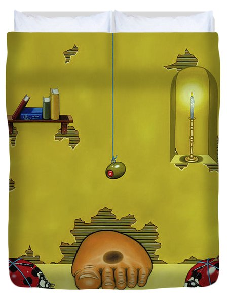Badminton By Candlelight Duvet Cover